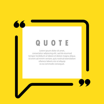 Quote icon. Quotemark outline, speech marks, inverted commas, blank space. Blank for your text. Vector EPS 10. Isolated on background