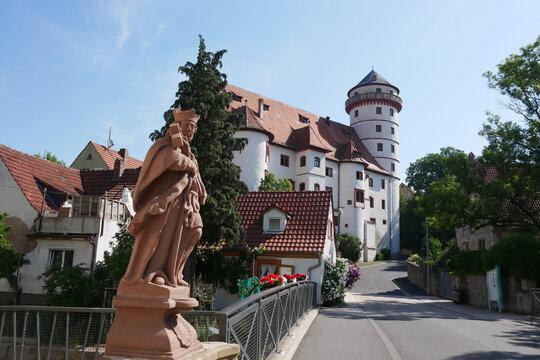 Heiligenfigur Schloßstraße Rimpar Schloss Grumbach