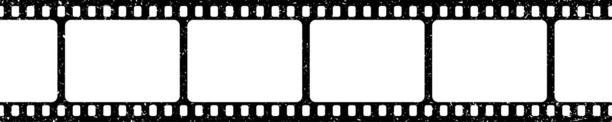 Obraz Grunge film strips collection. Old retro cinema movie strip. Video recording. Vector illustration. - fototapety do salonu