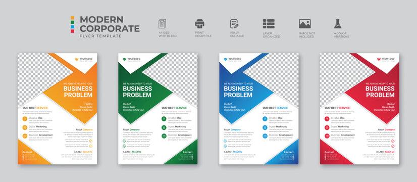Corporate business digital marketing agency flyer design