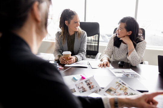Creative businesswomen planning in conference room meeting