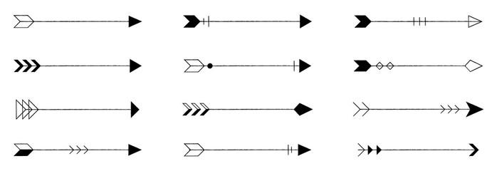 Fototapeta vintage arrow vector collection obraz