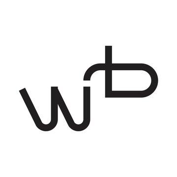 wb initial letter vector logo