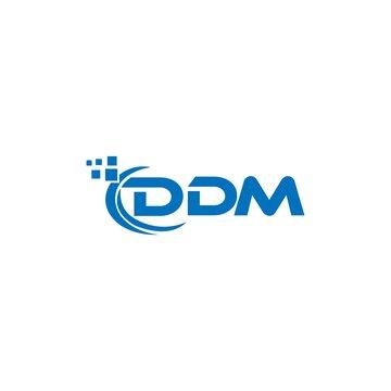 DDM letter logo design on white background. DDM creative initials letter logo concept. DDM letter design.