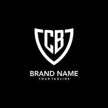CB monogram initial logo with clean modern shield icon design