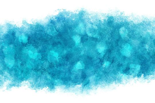 水 波 ブルー 水彩 海 背景