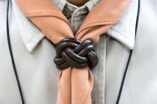 Close-up Of Man With Scarf
