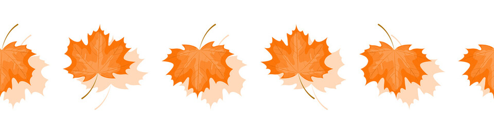 Obraz Pattern for a site with maple leaves. Vector illustration. - fototapety do salonu