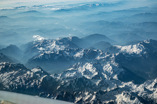Descending Into Ohrid, We Fly Over The Mountain Ranges Of The Balkans