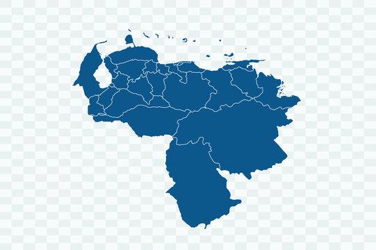 Venezuela Map blue Color on Backgound png