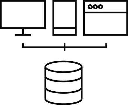 microservice architecture icon vector. MDM Database