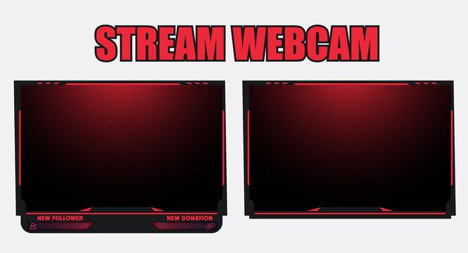 Streaming webcam display border for liv streamer