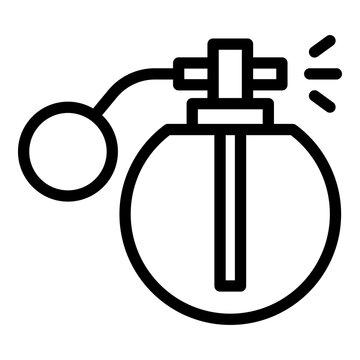 Retro perfume bottle icon. Outline Retro perfume bottle vector icon for web design isolated on white background