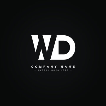Initial Letter WD Logo - Minimal Business Logo