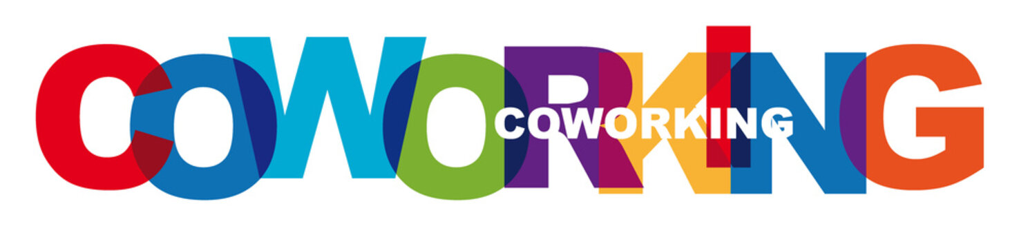 coworking - vector of stylized colorful font