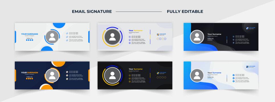 professional email signature design, email signature design template, personal email signature templates, email signature design ideas,
