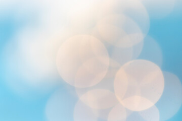 bokeh in blue and light white tones. artistic background for celebrations. flashes of light