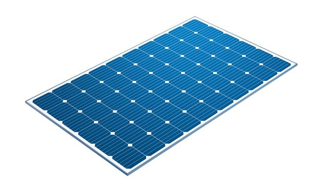 Solar PV module isolated on white background. Photovoltaic system. 3d illustration.