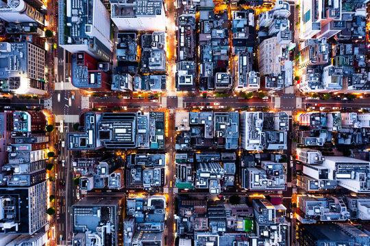 ドローン撮影された東京の夜景