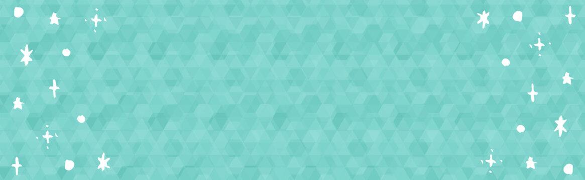 ホログラム風、幻想的なキラキラ星空のイラスト横長カード
