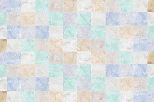 淡い色の大理石のチェック柄イメージテクスチャ