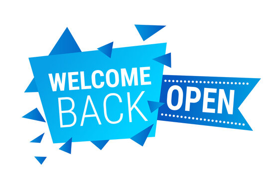 welcome back open sticker coronavirus quarantine is over advertising campaign concept poster