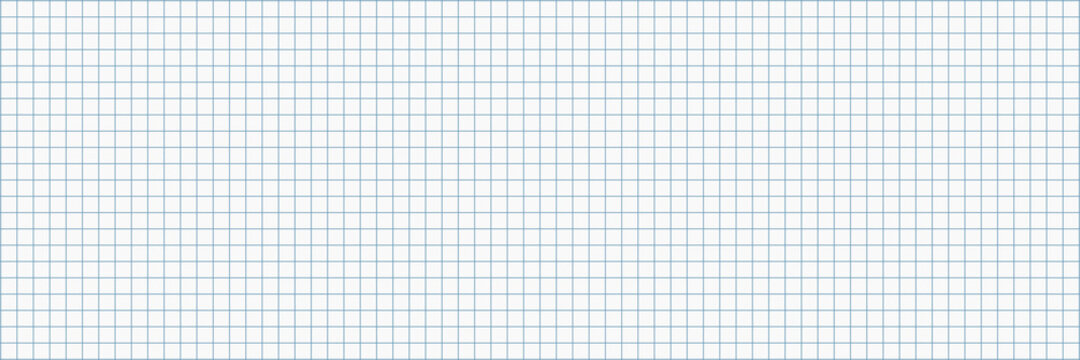horizontal blank white paper with blue square lines for pattern and background