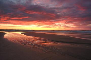 Fototapeta Zachód słońca nad Bałtykiem. obraz