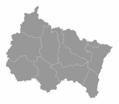 Grand Est administrative map