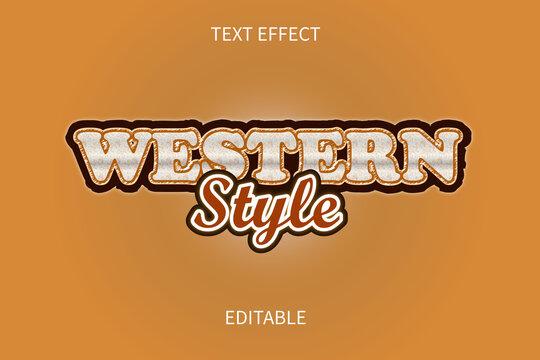 western editable text effect