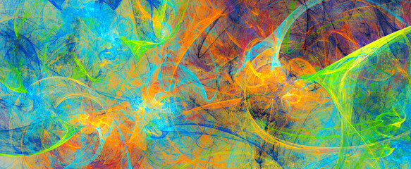Obraz Abstract bright color background. Modern paint pattern. Fractal artwork for creative graphic design - fototapety do salonu
