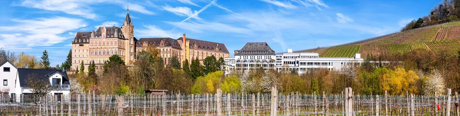 Obraz General view of the Kalvarienberg monastery complex in Bad Neuenahr-Ahrweiler, Germany - Kloster Kalvarienberg - fototapety do salonu