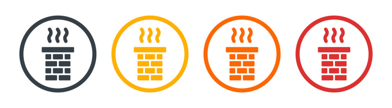Chimney smoke icon for chimney sweep concept. Vector illustration