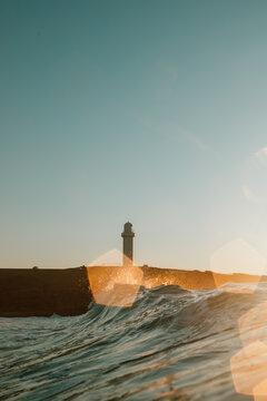 Wollongong Lighthouse at sunrise, NSW, Australia