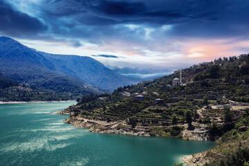 Obraz Wakacje nad tureckim morzem - fototapety do salonu
