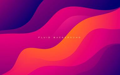 Obraz Colorful wavy gradient shape abstract background - fototapety do salonu