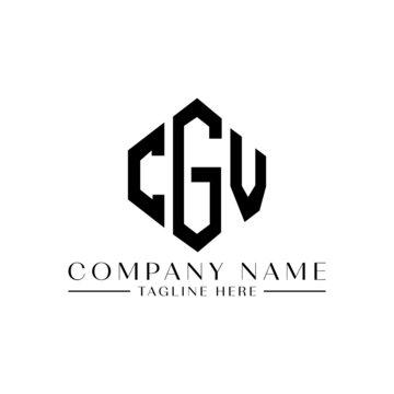 CGV letter logo design with polygon shape. CGV polygon logo monogram. CGV cube logo design. CGV hexagon vector logo template white and black colors. CGV monogram, CGV business and real estate logo.