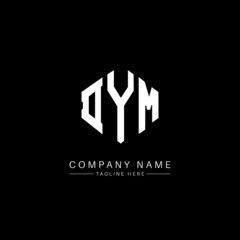Obraz DYM letter logo design with polygon shape. DYM polygon logo monogram. DYM cube logo design. DYM hexagon vector logo template white and black colors. DYM monogram, DYM business and real estate logo.  - fototapety do salonu