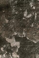 Biało szare tło zniszczonej ściany, popękana brudna tekstrura.