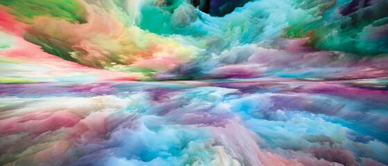 Obraz Painted Land and Sky - fototapety do salonu