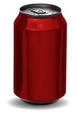 Obraz Vector lata roja de aluminio - fototapety do salonu