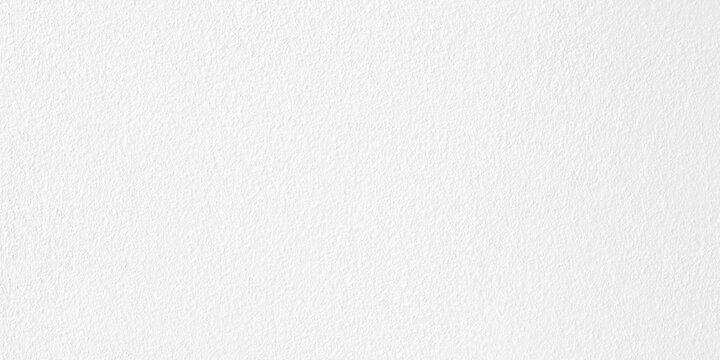 Abstract wide white cement wall for background with empty space, copy space. Paper, texture, white.