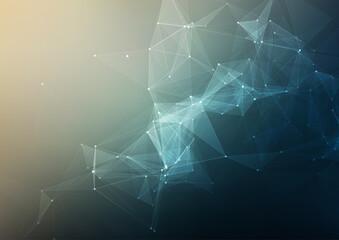 Fototapeta Abstract low poly techno design background obraz