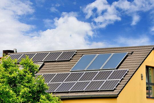 Solare Strom- und Wärmerzeugung auf dem Dach