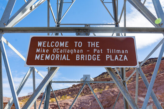Sign of the Mike O'Callaghan - Pat Tillman Memorial Bridge
