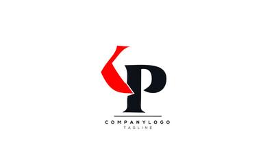 Obraz Alphabet KP , PK , K , P  initial Letter Monogram Icon Logo vector illustration  - fototapety do salonu