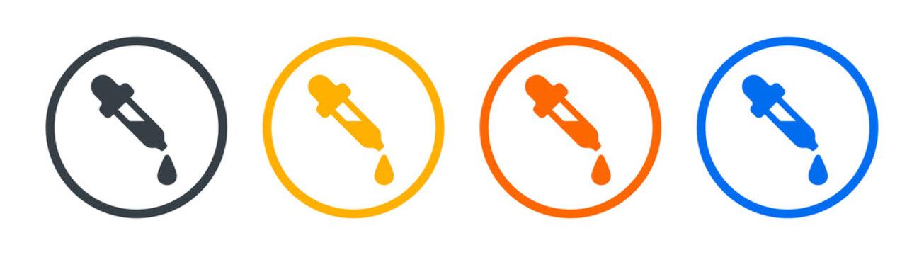 Dropper icon vector illustration. Medicine dropper symbol