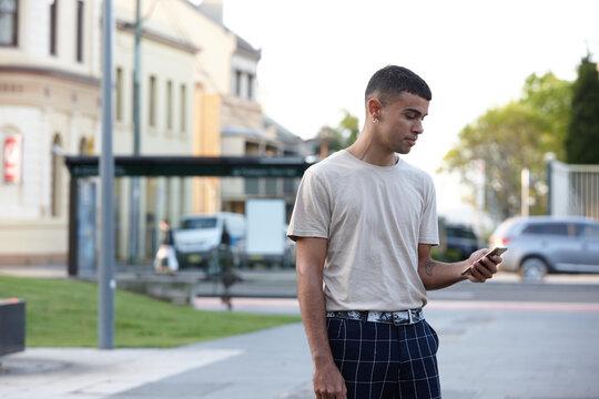 Young Indigenous Australian man enjoying time outdoors