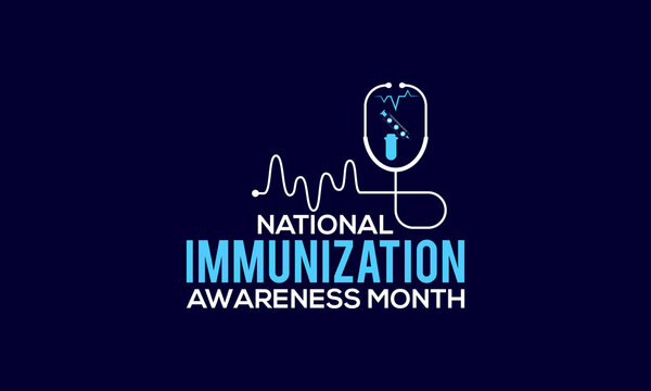 National Immunization Awareness Month Vector Banner Template Observed On August