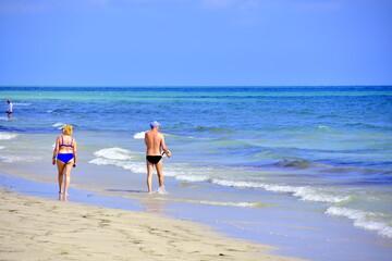 Tunezja, wakacje, woda, Morze Srodziemne, wypoczynek, fale